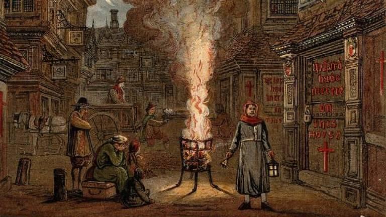 Quase metade da população da Inglaterra desapareceu devido à peste negra