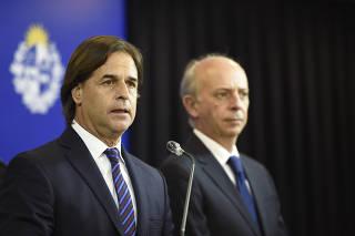 URUGUAY-MONTEVIDEO-LACALLE POU-CONFERENCIA-EJECUCION