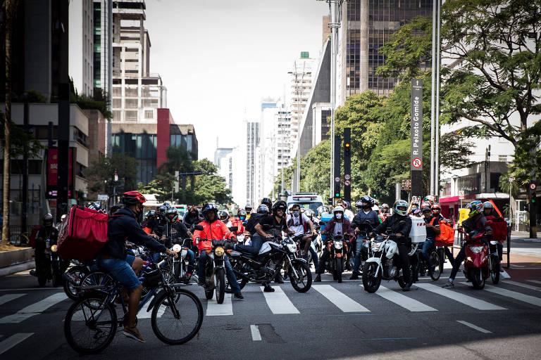 No dia 20 de abril deste ano, um grupo de motoboys da capital paulista já havia realizado protestos contra empresas de delivery em que pediam melhores condições de trabalho
