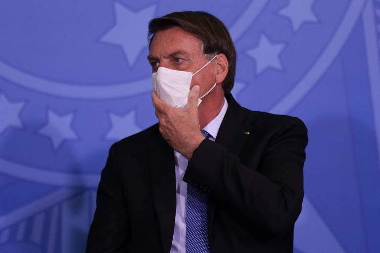 Presidente Jair Bolsonaro (sem partido) em evento no Palácio do Planalto