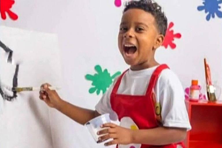 O menino Ítalo Augusto, 7,  morto após ser baleado em São João de Meriti, na Baixada Fluminense