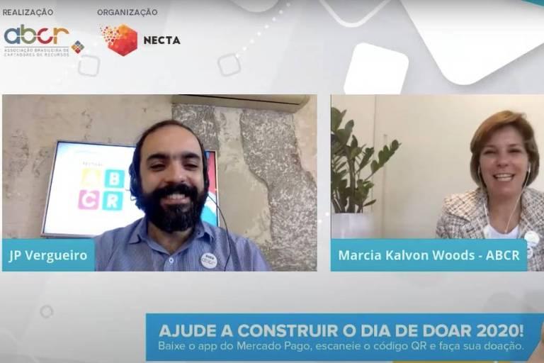 João Paulo Vergueiro, diretor-executivo da ABCR, e Marcia Kalvon Woods, presidente do conselho deliberativo da ABCR