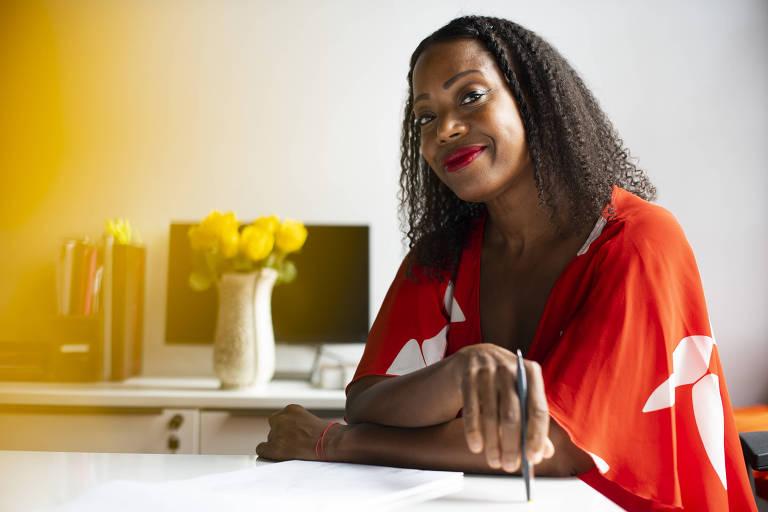 Tracy Reese, vice-presidente do CFDA, em seu estúdio em Detroit, em 13 de agosto de 2019