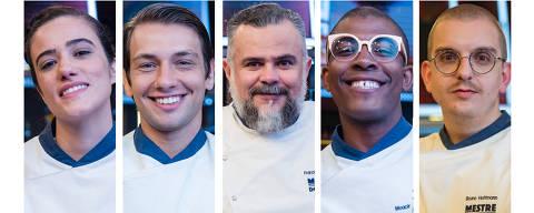 Nesta quinta-feira, 2 de julho, acontece a prova de repescagem no Mestre do Sabor, participam os chefs Gi Nacarato, Álvaro Gasparetto, Francisco Pinheiro, Moacir Santana e Bruno Hoffman