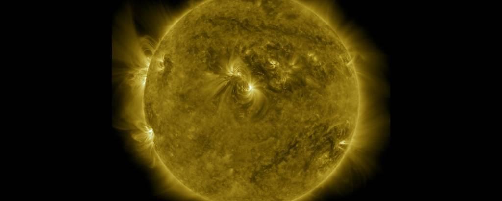Imagem do Sol feita pela Nasa