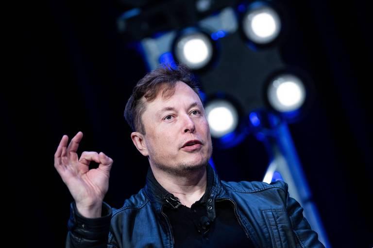Elon Musk, fundador da SpaceX, em palestra durante a Convenção Satellite 2020, em Washington