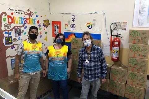 Projeto Balaio distribui cestas básicas a pessoas LGBT em situação de vulnerabilidade e pessoas que vivem com HIV