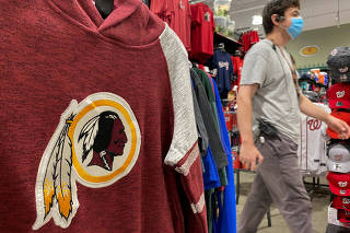 FILE PHOTO: Washington Redskins attire for sale at a store in Virginia