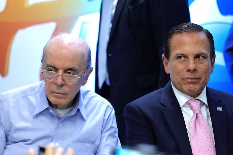 Serra e Doria durante evento no Diretório Estadual do PSDB, em julho do ano passado