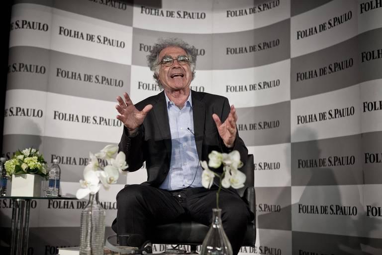 O historiador italiano Carlo Ginzburg durante sabatina realizada pela Folha no auditório da Livraria Cultura do Shopping Villa Lobos, em São Paulo (SP)