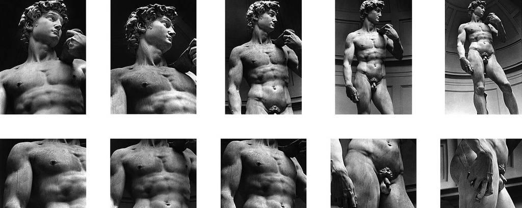 O Davi, de Michelangelo, fotografado pelo artista Alair Gomes, famoso por seus retratos homoeróticos