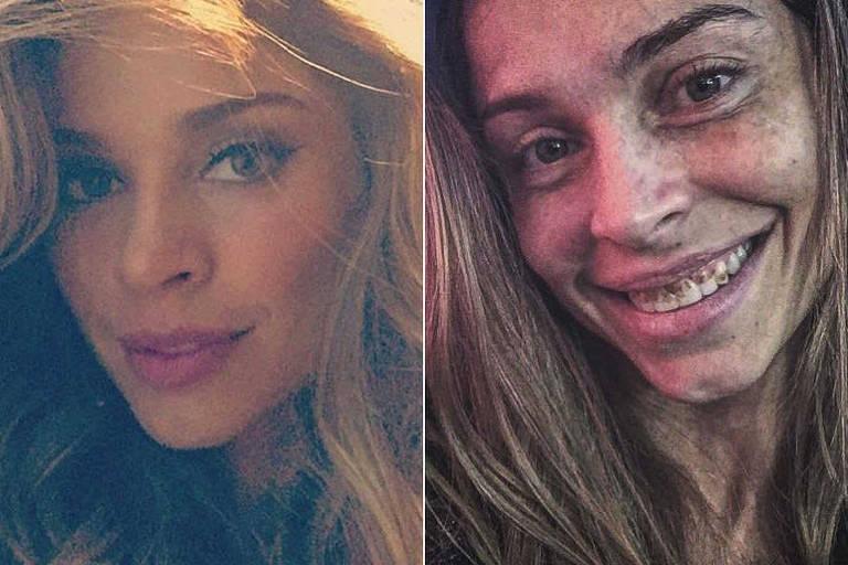 """Grazi Massafera antes e depois da transformação para """"Verdades Secretas"""""""