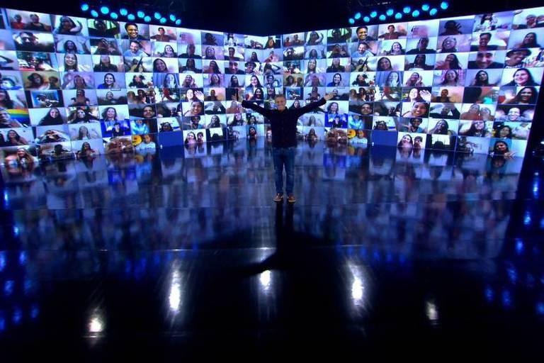 Luciano Huck volta a gravar nos Estúdios Globo