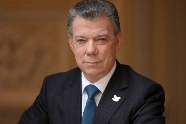 O ex-presidente da Colômbia e Prêmio Nobel da Paz, Juan Manuel Santos
