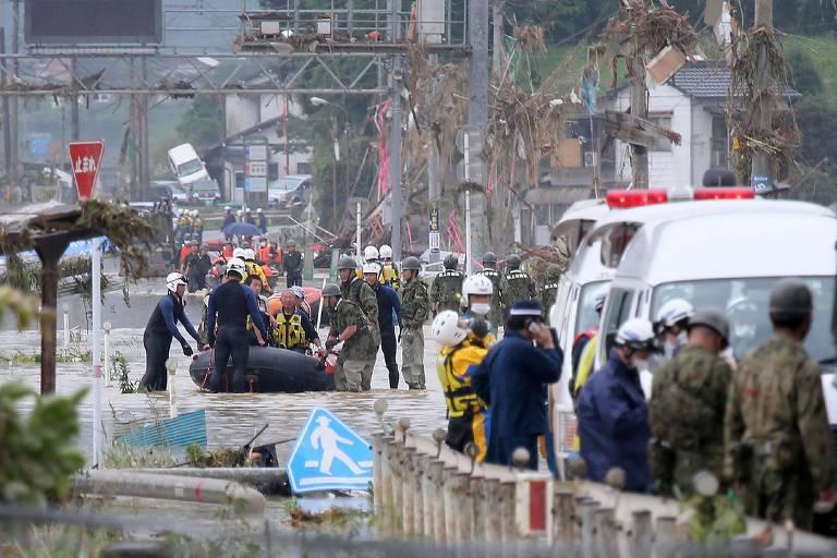Chuvas fortes no oeste do Japão obrigam a retirada de 200 mil pessoas