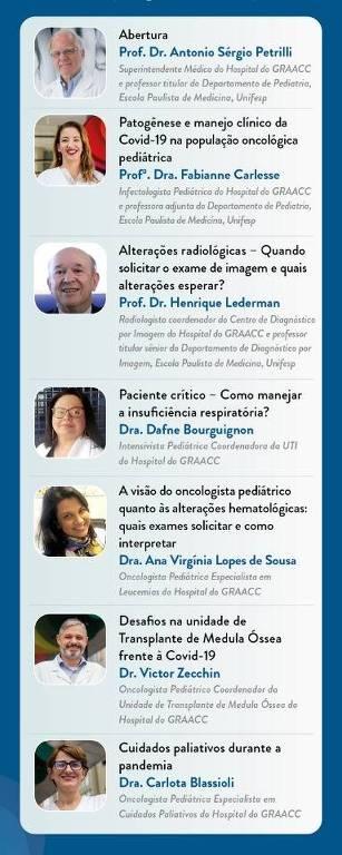 Graacc reúne especialistas em webinar gratuito sobre oncologia pediátrica na pandemia