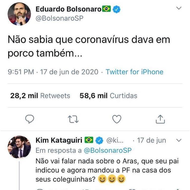 Quer dizer que Bolsonaro é um porco? Perguntem ao filho 03
