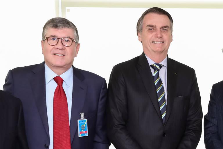 Rubens Ometto e Bolsonaro durante evento em abril de 2019