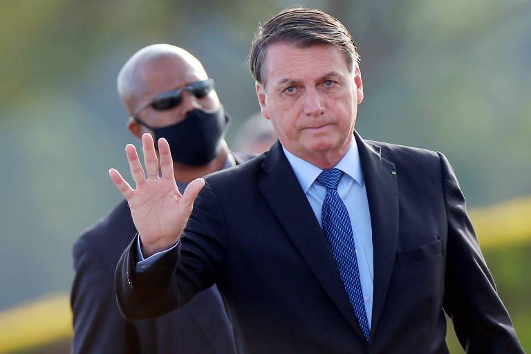 Presidente Jair Bolsonaro em evento no Palácio da Alvorada; novo marco do saneamento teve 11 dispositivos vetados