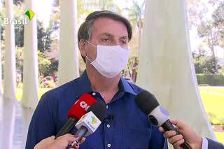 Brazil's President Jair Bolsonaro confirms positive coronavirus diagnosis, in Brasilia