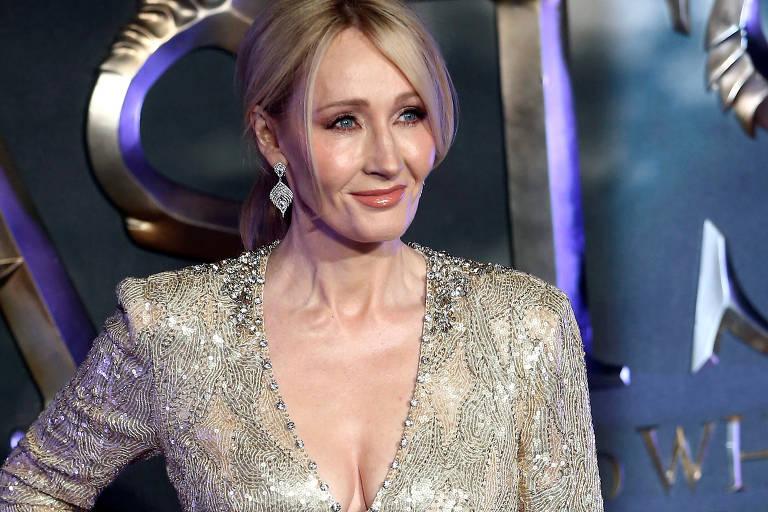 A escritora J. K. Rowling