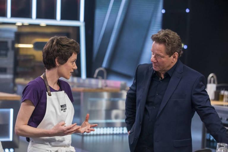 O chef Claude com a chef Carol Albuquerque que, posteriormente, acabou contratando
