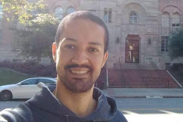 Jean Ribeiro, no campus da UCLA, onde faz doutorado em engenharia aeroespacial