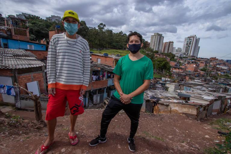 Rodrigo e Cristiano são algumas lideranças na favela do Pullman