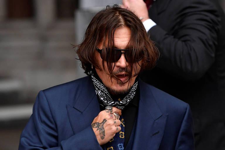O ator Johnny Depp chega à Suprema Corte de Londres nesta quinta
