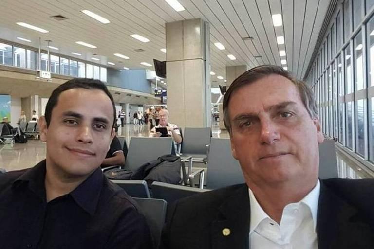 Tércio Arnaud com o presidente Jair Bolsonaro
