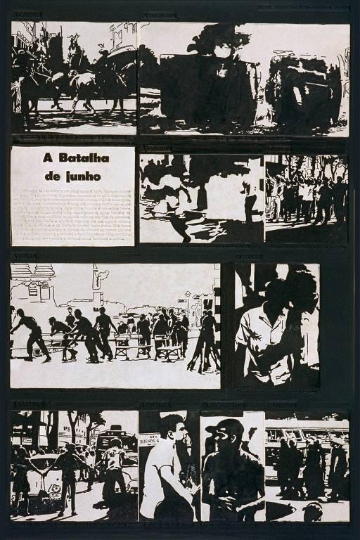 Detalhes de obras do artista Antonio Manuel, que retratou época da ditadura