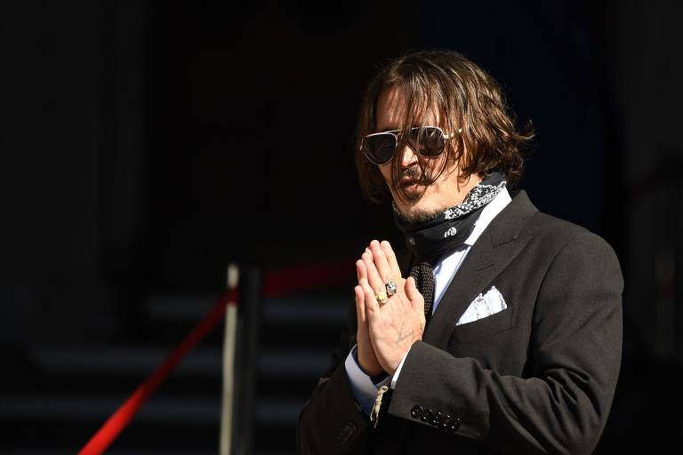 O ator Johnny Depp na Suprema Corte de Londres nesta sexta