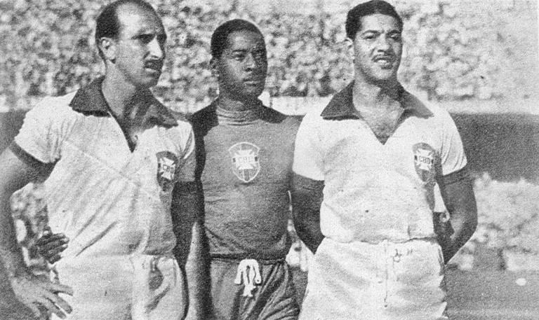 Da esq. para a dir., Augusto, Barbosa e Juvenal, estes dois últimos considerados, ao lado de Bigode, os grandes culpados do Maracanazo