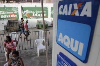 Supermercado em Melgaço (PA) atende pessoas para saque do auxílio emergencial