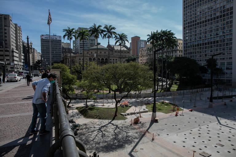 Reforma do Vale do Anhangabaú, cartão postal de São Paulo