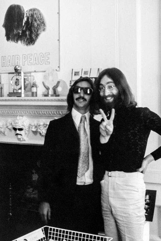 John Lennon e Ringo Starr