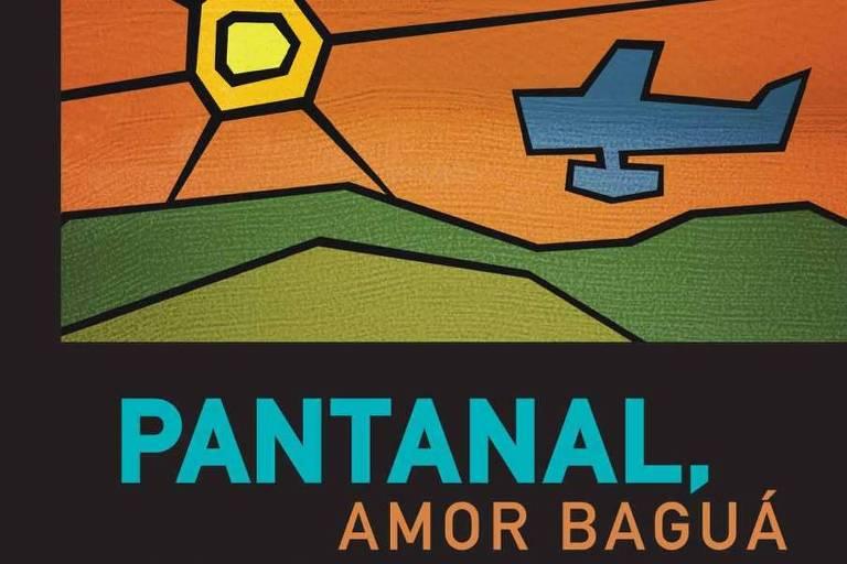 Capa com ilustração de paisagens do pantanal