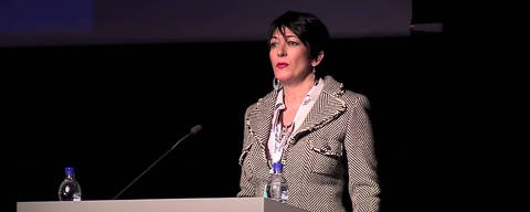 Ghislaine Maxwell speaks at the Arctic Circle Forum in Reykjavik, Iceland October 2013. The Arctic Circle/Handout via REUTERS THIS IMAGE HAS BEEN SUPPLIED BY A THIRD PARTY. MANDATORY CREDIT. NO RESALES. NO ARCHIVES. ORG XMIT: PGM04