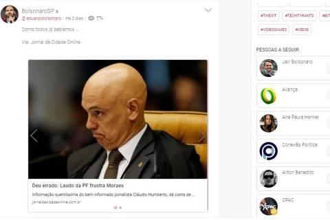 Bolsonaristas migram para rede social conservadora após terem posts apagados