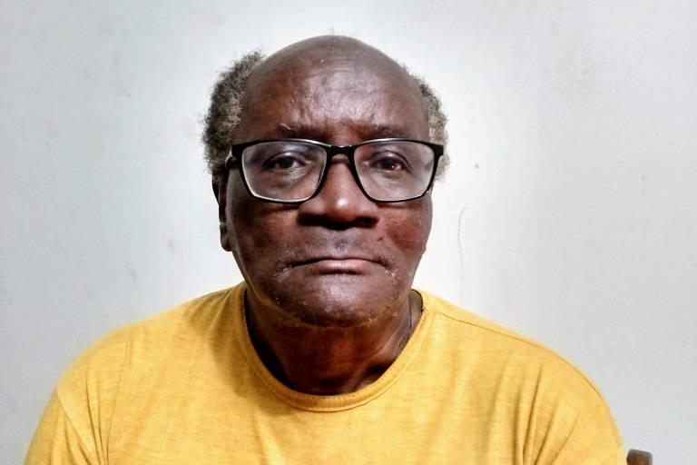 O escritor Oswaldo de Camargo, 84 anos, julho de 2020