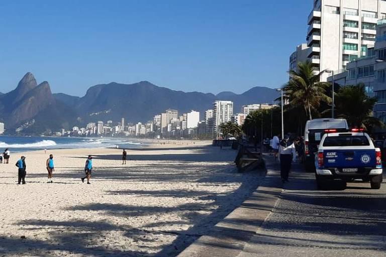 Guarda municipal faz blitz na zona sul do Rio neste sábado (11)