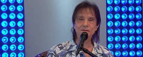 O cantor Rroberto Carlos durante a live que fez, no fim de semana, para celebrar seu aniversário de 79 anos