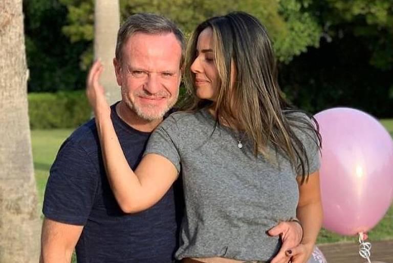 Rubens Barrichello e Paloma Tocci