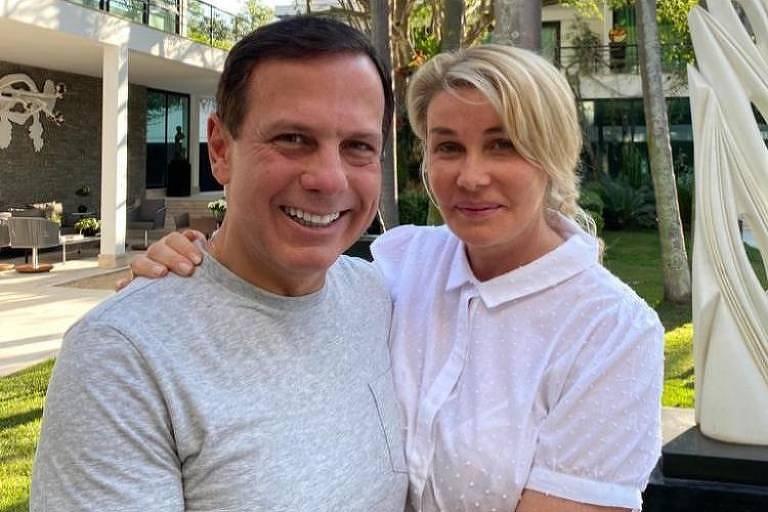 O governador João Doria e a primeira-dama de SP, Bia Doria