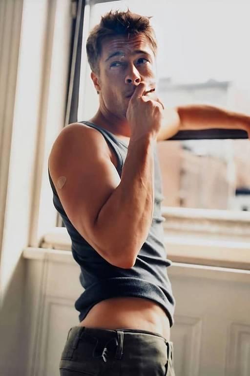 Imagens do ator Brad Pitt