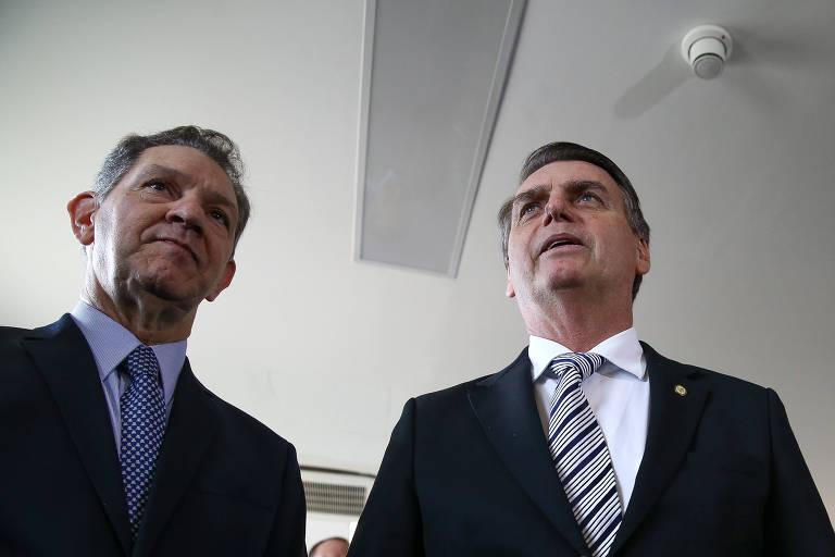 João Otávio de Noronha e o presidente Jair Bolsonaro