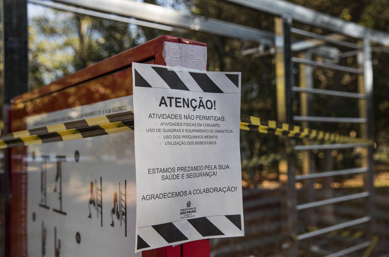 Brinquedos são interditados no Parque do Ibirapuera como medida para prevenir a disseminação do coronavírus