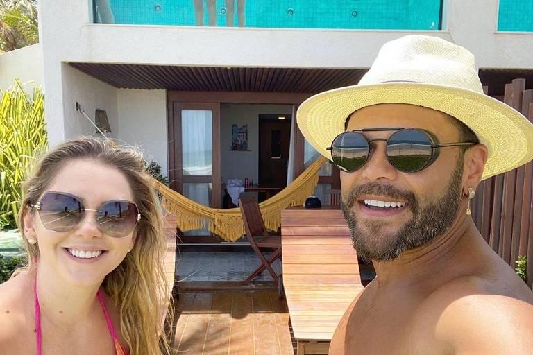 Marcos e esposa Lu Marchioto