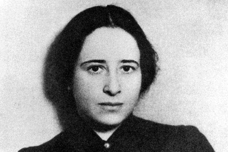 Retrato da filósofa alemã Hannah Arendt