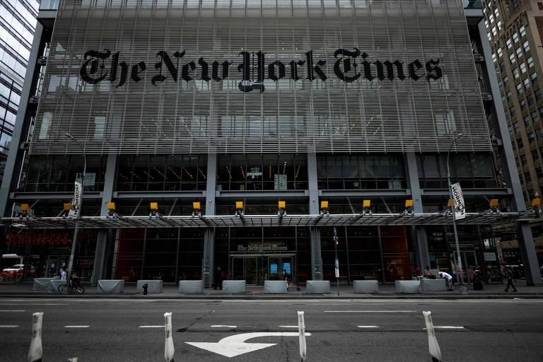 A sede do New York Times, em Manhattan